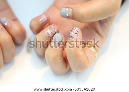 Pastel Tweed Nail Art Design Stock Photo 533541829 Shutterstock