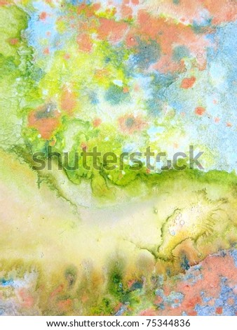 Pastel Watercolors 4 - stock photo