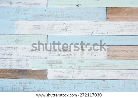 Pastel wood wall texture - stock photo