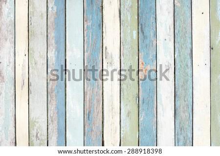 Pastel wood wall texture - stock photo