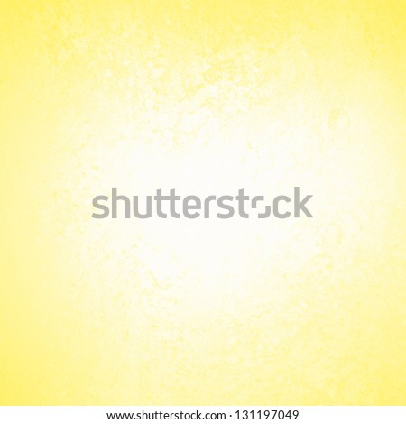 Pastel Yellow Background White Abstract Design Vintage Grunge Texture Distressed Rough Border Frame