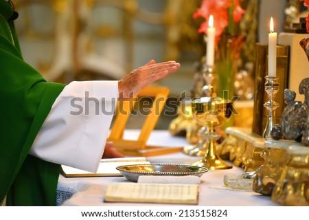 Pastor hands - stock photo