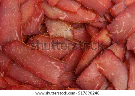 Pastrami meat delicious background