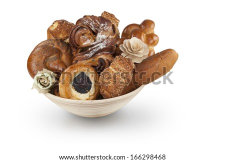 pastry basket included work path - stock photo