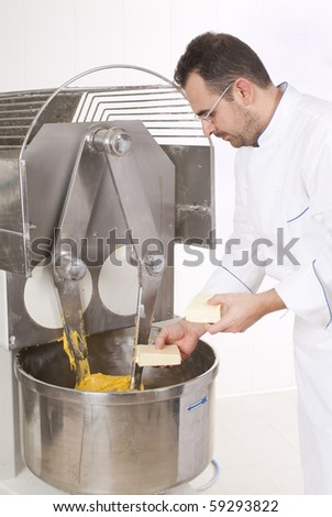 Pastry chef who prepares the cake Panettone