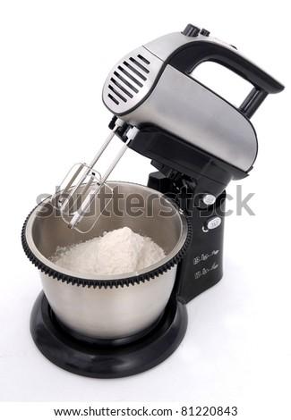 pastry dough in mixer machine - stock photo