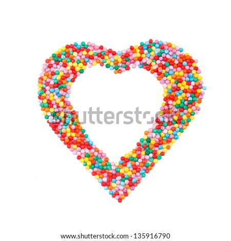 Pastry topping heart-shaped - stock photo
