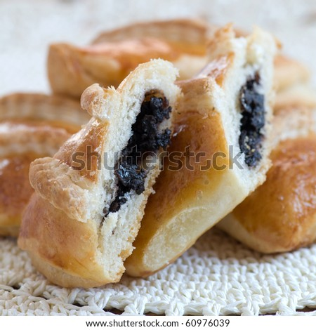 pastry with olive - stock photo