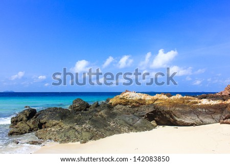 pat-ta-ya beach in Koh Larn, pattaya,Thailand - stock photo