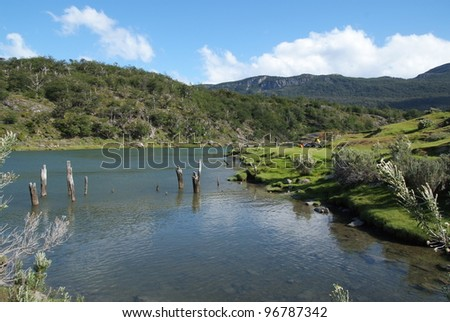 Patagonia Landscape - stock photo