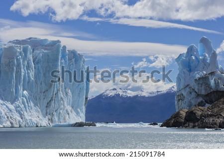 Patagonia, Perito Moreno blue glacier - stock photo