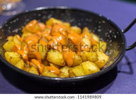 stock-photo-patatas-bravas-spanish-fried
