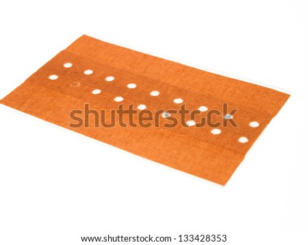 patches on a white background