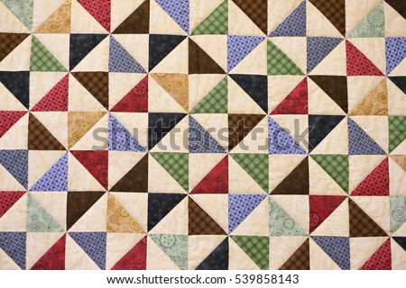 Patchwork Quilt Part Patchwork Quilt Background Stock Photo (Royalty ...