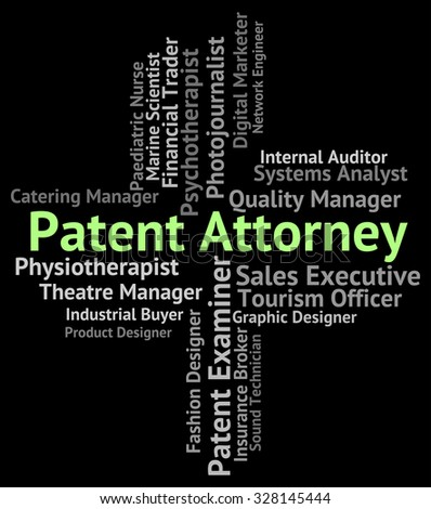 Patent Attorney Indicating Legal Adviser And Advocate - stock photo