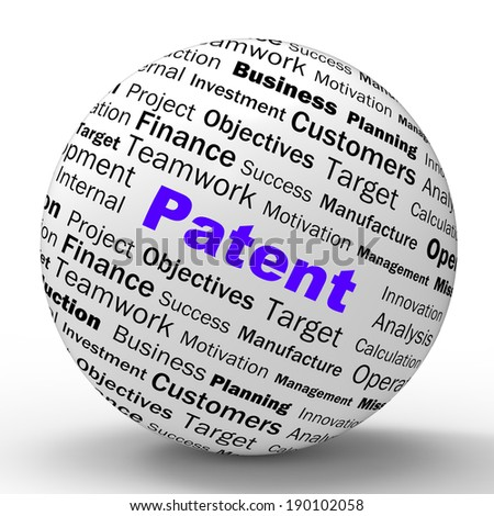 Patent Sphere Definition Showing Protected Invention Or Legal Discovery