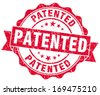 patented grunge red stamp - stock vector