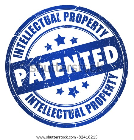 Patented intellectual property stamp - stock photo
