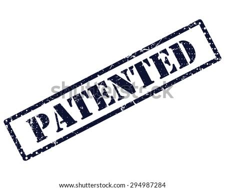 Patented stamp - stock photo