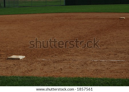 Path from First to Second Base - stock photo