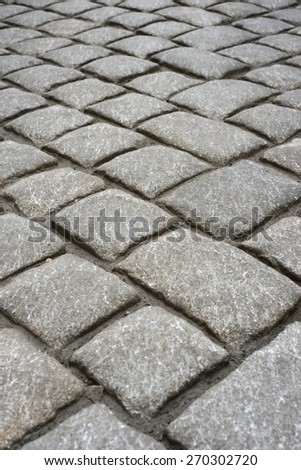 Path from the granite floor plates - stock photo