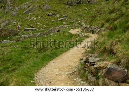Path in Devils Kitchen with woman walking for scale