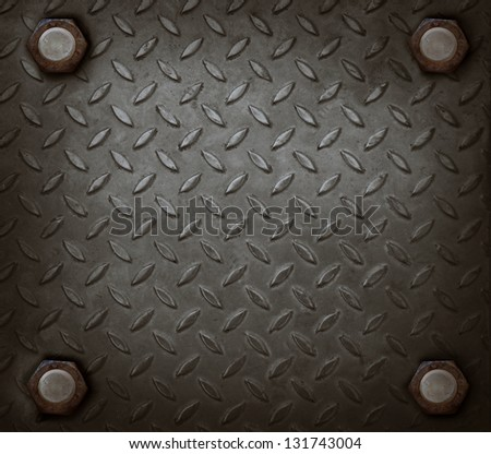 path of hard metal and knot use for grungy background show used texture - stock photo