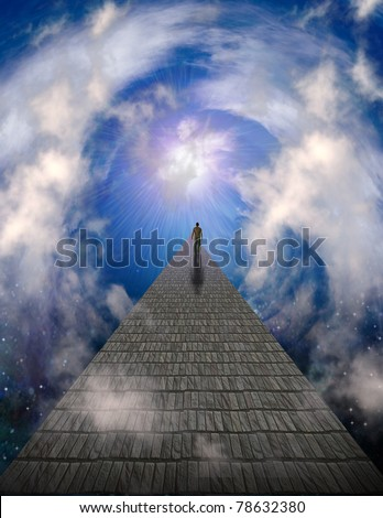Path to light - stock photo