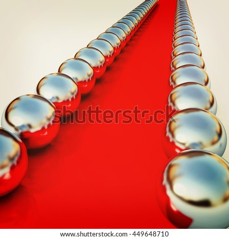 path to the success on a white background. 3D illustration. Vintage style. - stock photo