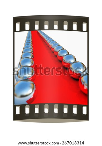 path to the success on a white background. The film strip - stock photo