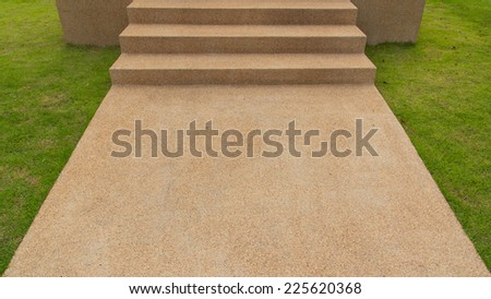 Pathway in a Peaceful City Park - stock photo