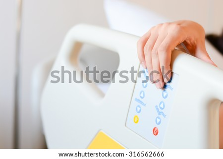 patient holding his hand on hospital stock photo royalty free