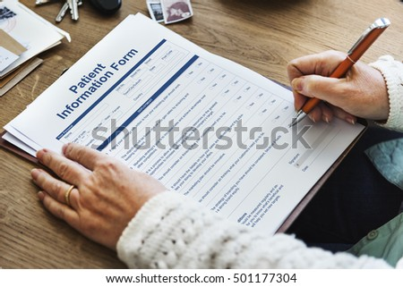 Patient Information Form Document Details Concept
