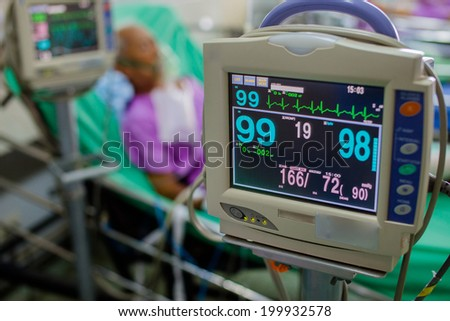 Patients monitor. - stock photo