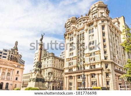 Patio do Colegio, Sao Paulo, Brazil. Courtyard where the city started. - stock photo