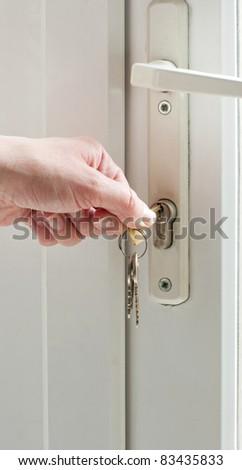 Patio door lock keys stock photo royalty free 83435833 shutterstock patio door lock and keys planetlyrics Choice Image