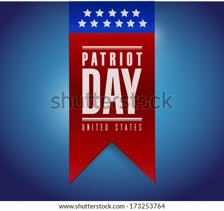 patriot day banner sign illustration design over a blue background - stock photo