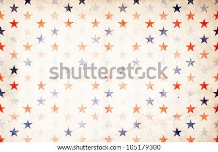 Patriotic Background - Stars - stock photo