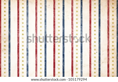 Patriotic Background - Stars & Stripes - stock photo