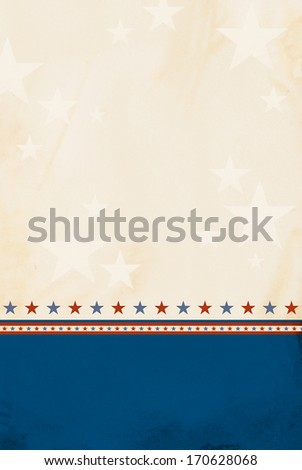 Patriotic background with room for copy space. - stock photo