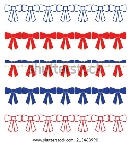 Patriotic Bow Borders - stock photo