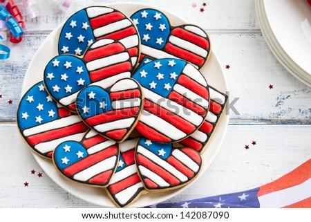 Patriotic cookies - stock photo