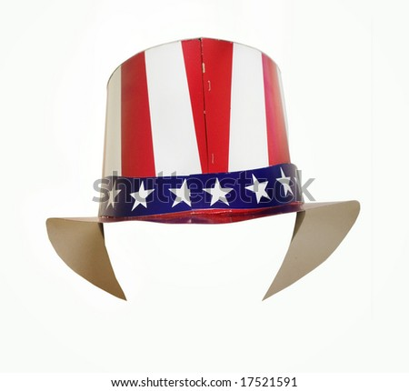 Patriotic hat - stock photo