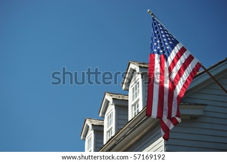Patriotic house in St. Augustin - stock photo