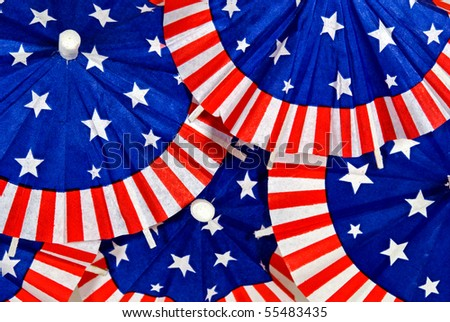 patriotic paper umbrellas