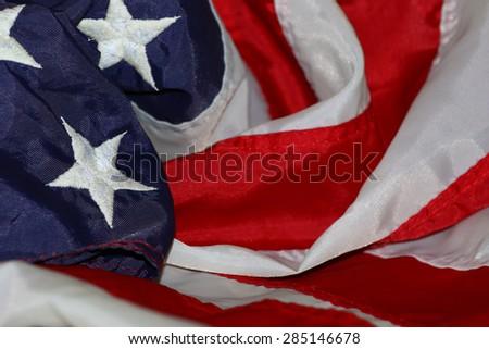 Patriotic star spangled banner background - stock photo