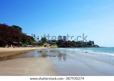Pattaya beach, Chonburi, Thailand - stock photo