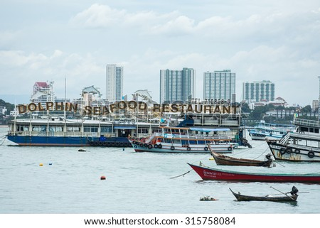 PATTAYA, THAILAND - AUGUST 28, 2015: ferry from Pattaya to Koh Larn. From Bali Hai pier on August 28, 2015 in Pattaya, Thailand.