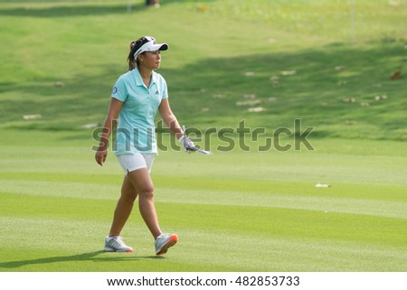 PATTAYA, THAILAND-FEBRUARY 20: Danielle Kang of USA during Round 3 of Honda LPGA Thailand 2015 on February 20, 2015 at Siam Country Club Old Course in Pattaya, Thailand