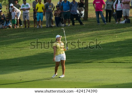 PATTAYA, THAILAND-FEBRUARY 20: Mirim Lee of South Korea in action during Round 3 of Honda LPGA Thailand 2015 on February 20, 2015 at Siam Country Club Old Course in Pattaya, Thailand